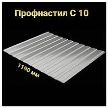 Профнастил С-10 RAL 9006 (серебристый) PE 0.45 фасад