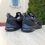 Мужские текстильные кроссовки Nike Air Presto черные на балоне, фото 3
