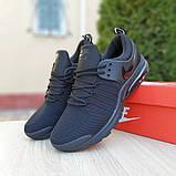 Мужские текстильные кроссовки Nike Air Presto черные на балоне, фото 8