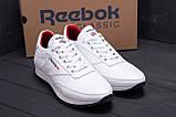 Мужские кожаные кроссовки белые  Reebok White line, фото 8