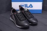 Мужские кожаные кроссовки FILA Tech Flex Black, фото 7