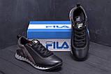 Мужские кожаные кроссовки FILA Tech Flex Black, фото 9