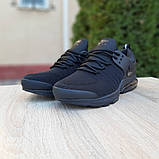 Мужские текстильные кроссовки Nike Air Presto черные на балоне, фото 5