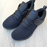 Мужские текстильные кроссовки Nike Air Presto черные на балоне, фото 6