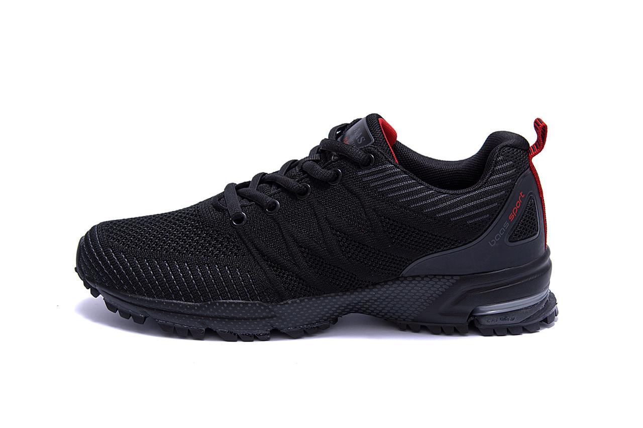 Мужские летние кроссовки сетка BS RUNNING SYSTEM Black