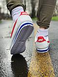 Кроссовки кожаные NIKE CLASSIC CORTEZ LEATHER Найк Класик Кортез   (40,41,42,43,44,45), фото 3