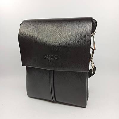 Мужская кожаная сумка планшет через плечо Polo B6771-1