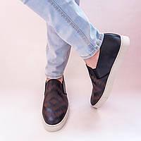 Слипоны, мокасины, кеды мужские кожаные FRYE. Оригинал из США. Размер 44; 44,5; 45