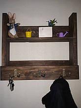 Деревянная Вешалка-Ключница ручной работы
