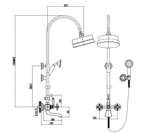 Душова система Imprese Cuthna zlato T-10280 золото