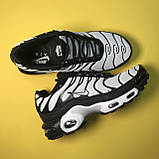 Кроссовки Nike Air Max TN Plus Black White, фото 3
