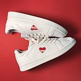 Кроссовки Adidas Stan Smith White Red Heart, фото 4