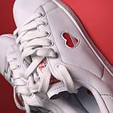 Кроссовки Adidas Stan Smith White Red Heart, фото 8