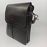 Шкіряна чоловіча сумка через плече / Мужская кожаная сумка через плечо Langsa, фото 3