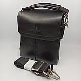 Шкіряна чоловіча сумка через плече / Мужская кожаная сумка через плечо Langsa, фото 4