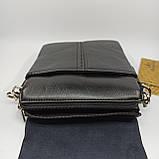 Шкіряна чоловіча сумка через плече / Мужская кожаная сумка через плечо Langsa, фото 6
