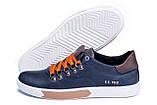 Мужские кожаные кеды Polo Ralph Lauren Blue, фото 5