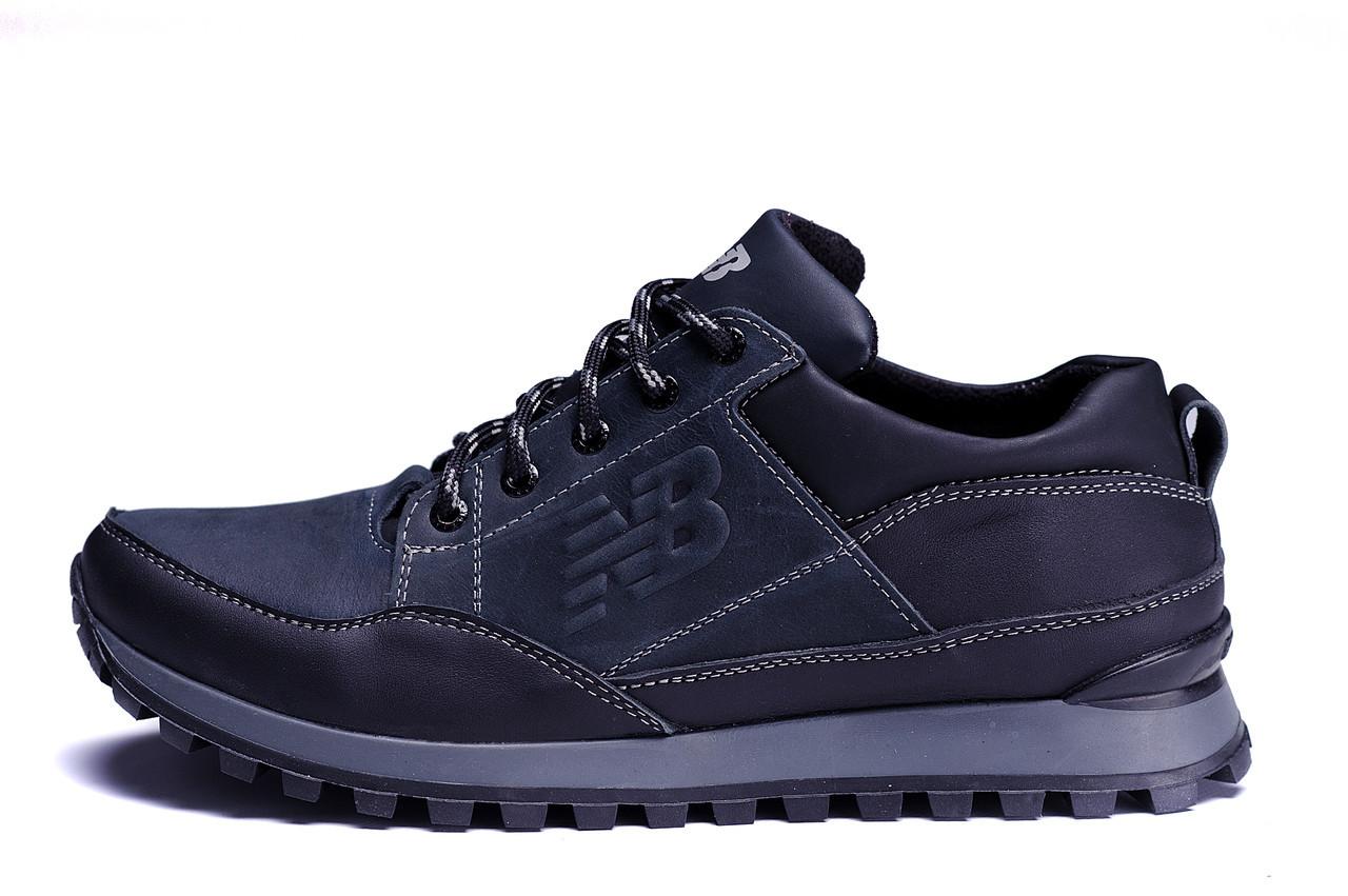 Мужские кожаные кроссовки New Balance Clasic Blue