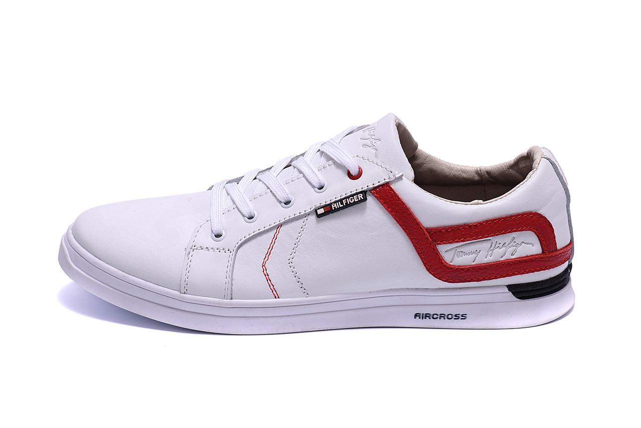 Мужские кожаные кеды T.Hilfiger Aircross White ;