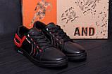 Мужские кожаные кеды  T.Hilfiger Aircross Black ;, фото 8