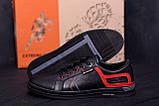Мужские кожаные кеды  T.Hilfiger Aircross Black ;, фото 9