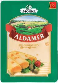 Сир в пластинках Monki Aldamer без консервантів 150г Польща