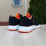 Мужские текстильные кроссовки Adidas NEO Чёрные с оранжевым, фото 2