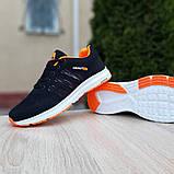 Мужские текстильные кроссовки Adidas NEO Чёрные с оранжевым, фото 5