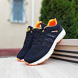 Мужские текстильные кроссовки Adidas NEO Чёрные с оранжевым, фото 6