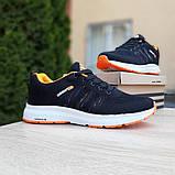Мужские текстильные кроссовки Adidas NEO Чёрные с оранжевым, фото 7