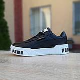 Кроссовки женские Puma Cali Bold чёрные на белой, фото 6
