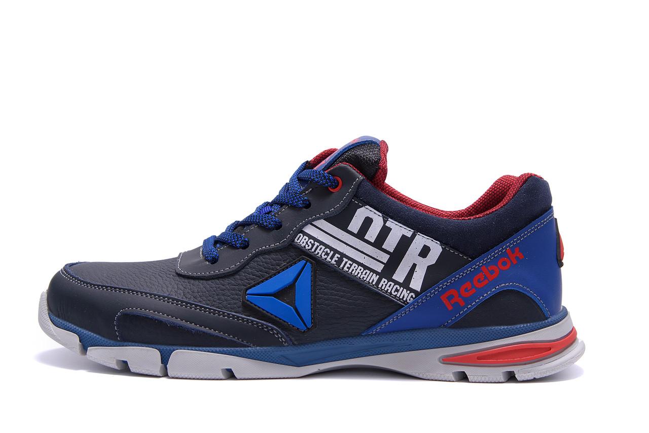 Мужские кожаные кроссовки Reebok Tech Flex Blue ;
