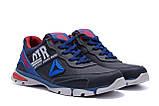 Мужские кожаные кроссовки Reebok Tech Flex Blue ;, фото 3