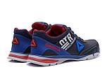 Мужские кожаные кроссовки Reebok Tech Flex Blue ;, фото 6