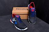 Мужские кожаные кроссовки Reebok Tech Flex Blue ;, фото 9