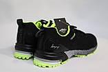 Черные мужские летние кроссовки сетка BAAS. Чорні чоловічі літні кросівки сітка. Размеры 41-46., фото 4