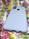 Чехол силиконовый для Samsung M21 2020 (M215) матовый голубой, фото 3