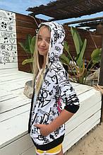 Детская толстовка для девочки Young Reporter Польша 201-0555G-03-200-1-D Белый