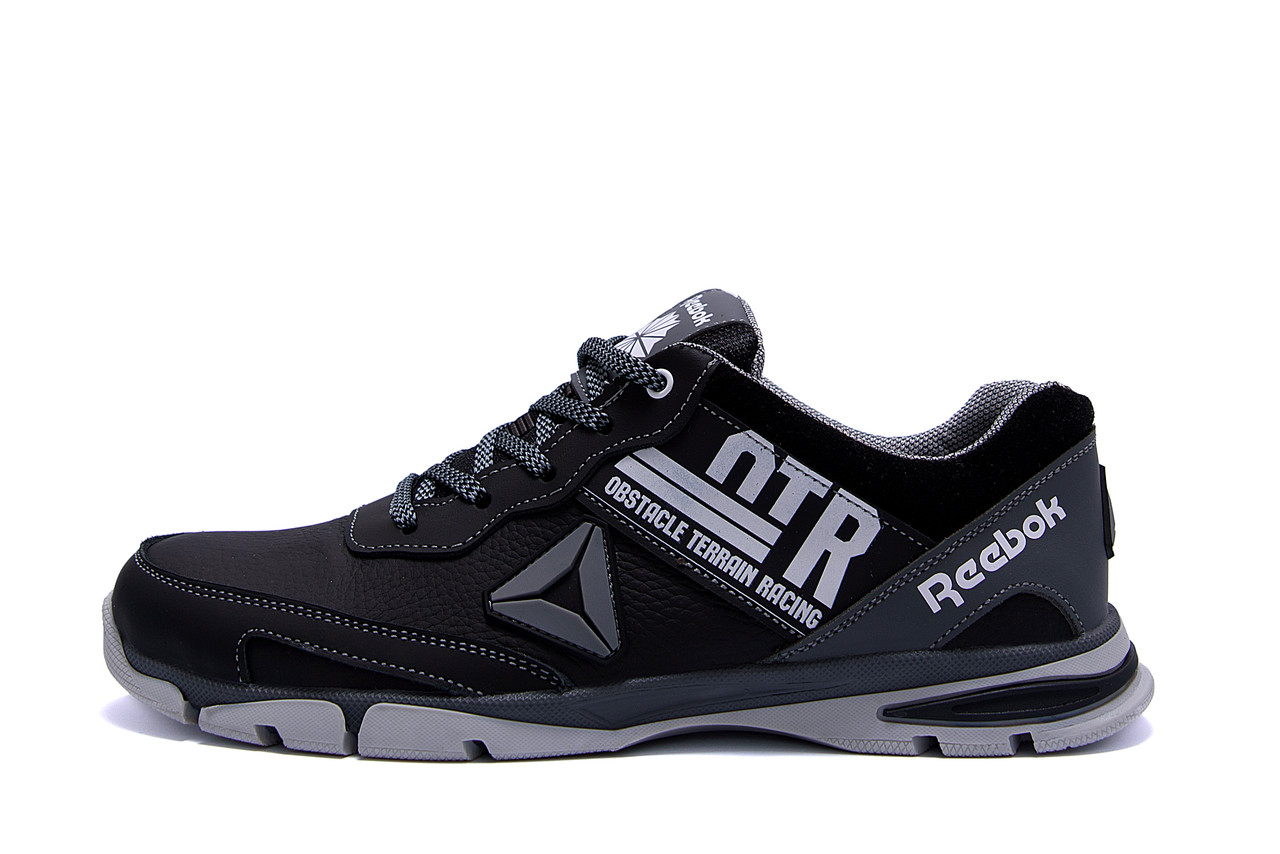 Мужские кожаные кроссовки Reebok Tech Flex Grey ;