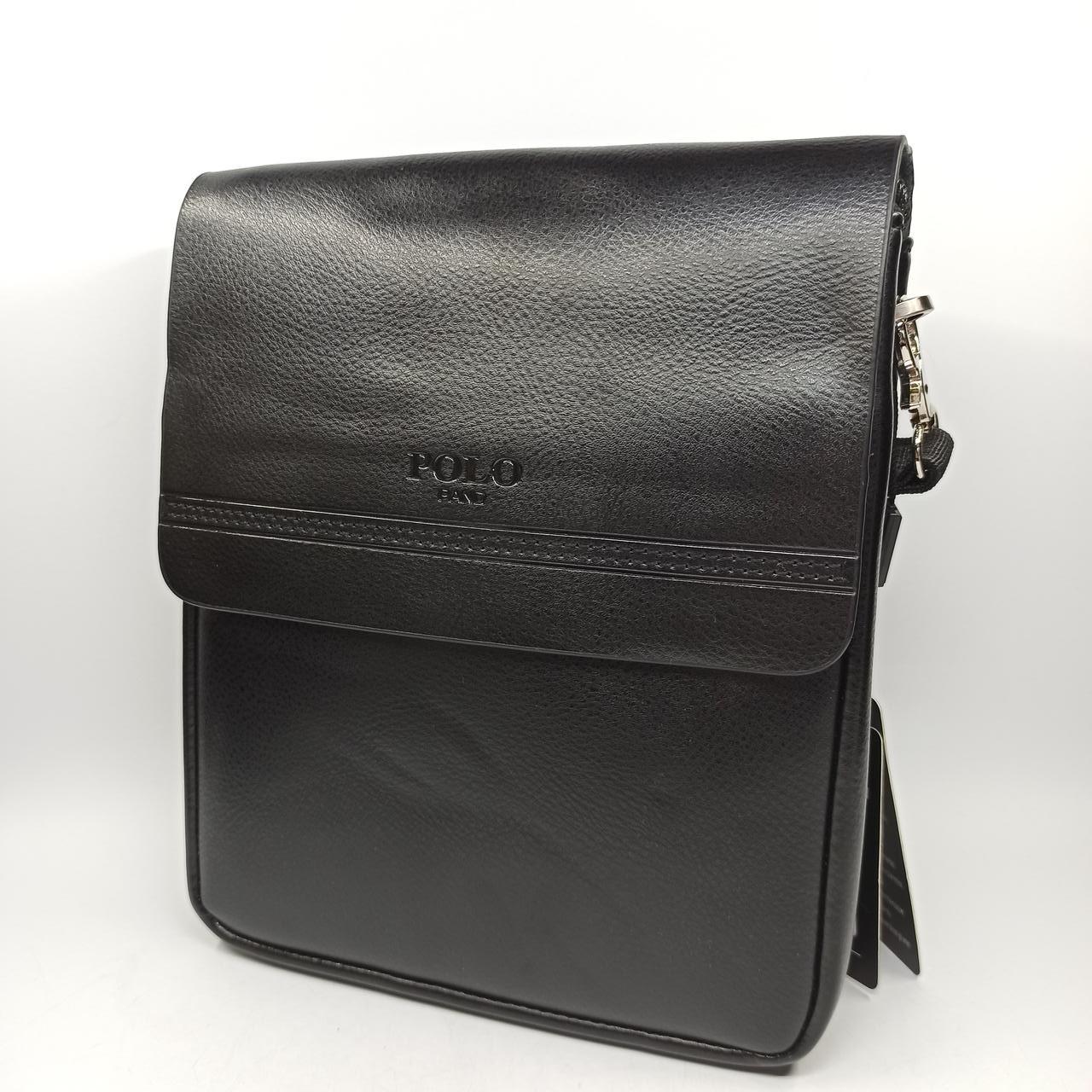 Шкіряна чоловіча сумка через плече / Мужская кожаная сумка через плечо Polo B338-2