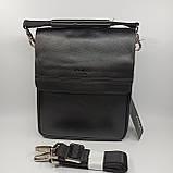Шкіряна чоловіча сумка через плече / Мужская кожаная сумка через плечо Polo B338-2, фото 5