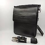 Шкіряна чоловіча сумка через плече / Мужская кожаная сумка через плечо Polo B338-2, фото 6