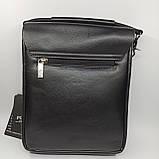 Шкіряна чоловіча сумка через плече / Мужская кожаная сумка через плечо Polo B338-2, фото 7