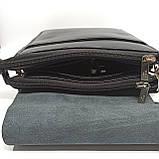 Шкіряна чоловіча сумка через плече / Мужская кожаная сумка через плечо Polo B338-2, фото 9