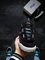 Fila D-Formation Black / white Женские кроссовки черно-белого цвета. Фила Д-Формейшн черные маломерять