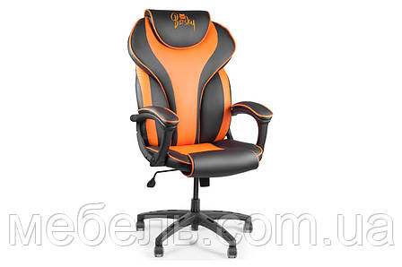 Кресло для работы дома Barsky BSD-05 Sportdrive Orange Arm_pad Tilt PA_designe, черный / оранжевый, фото 2