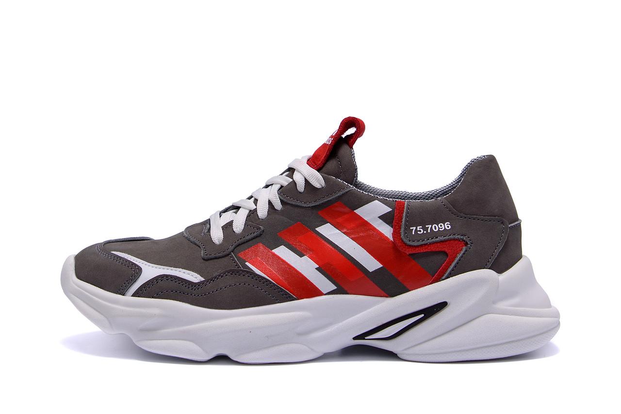 Мужские кожаные кроссовки Adidas Running Team  ;
