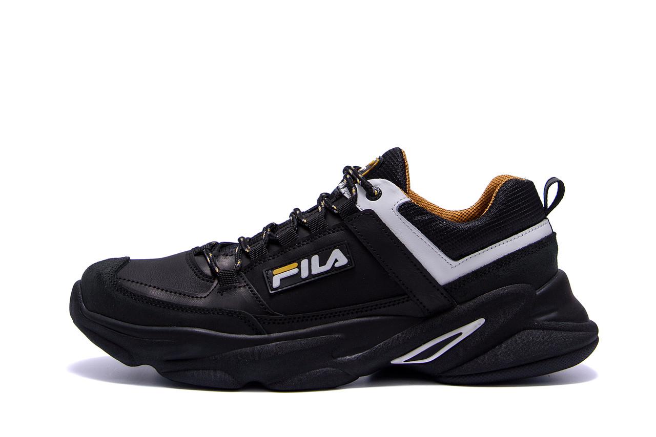 Мужские кожаные кроссовки Fila Flex Zone   ;