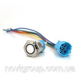 Кнопка без фіксації 3A 220V значок Power, ціна за штуку