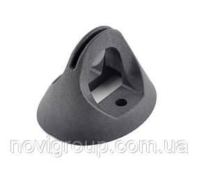 Кронштейн КП-3 пластиковый для плоских поверхностей и опор. крепление шурупами или бандажной лентой